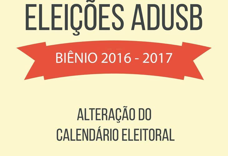 Eleições da Adusb: calendário é alterado por assembleia