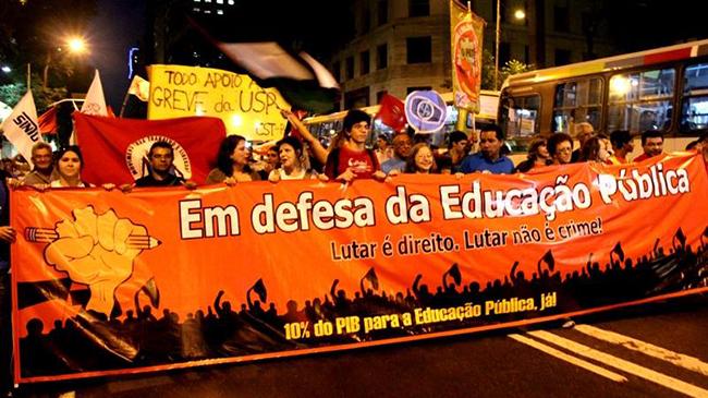 Marcha em defesa da Educação pública e contra o PLP 257: grande ato público em Brasília