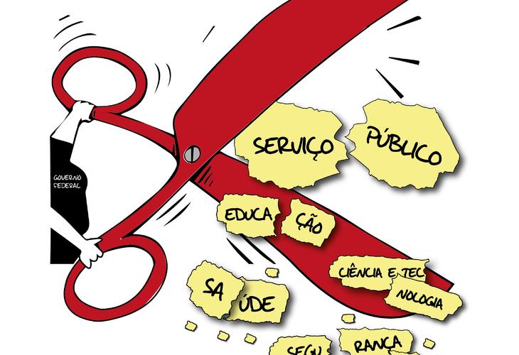Governo Federal revê meta fiscal e ataca direitos dos servidores públicos