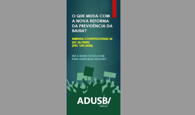 Informativo sobre a nova Reforma da Previdência Estadual é lançado