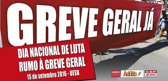 Jornada de Lutas rumo à greve geral: Adusb promove palestras em 15 de setembro