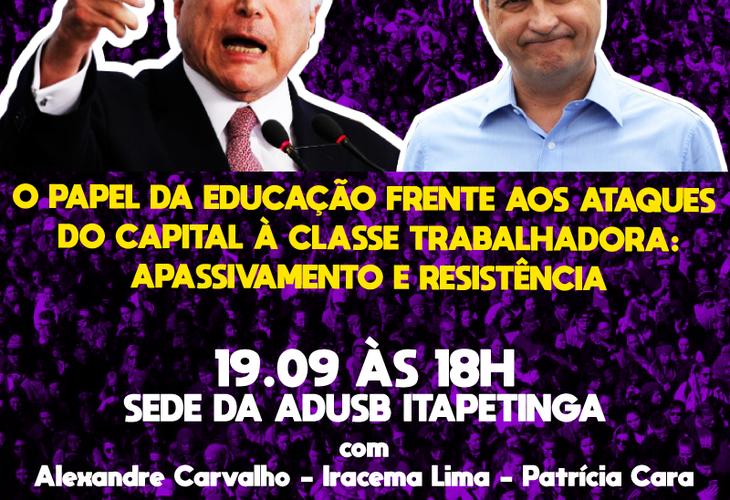 Adusb promove debate em Itapetinga sobre educação na quarta-feira (19)