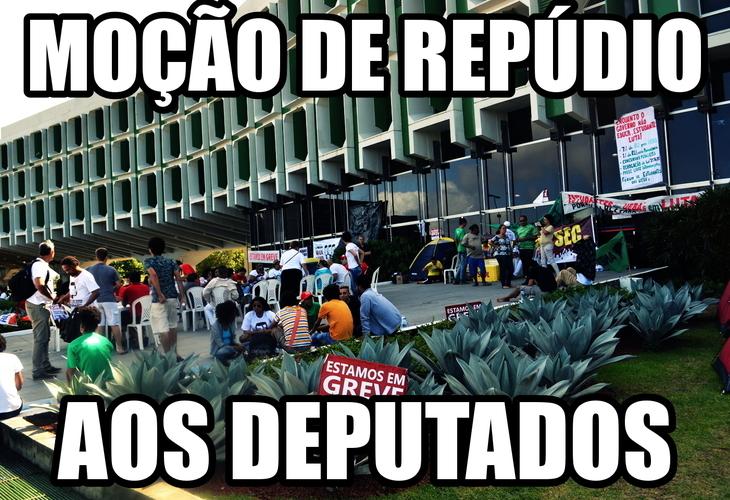 MOÇÃO DE REPÚDIO AOS DEPUTADOS
