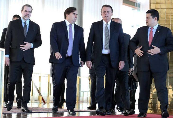 """""""Pacto"""" entre Bolsonaro, Congresso e STF é pacote de medidas contra trabalhadores. Greve Geral neles!"""