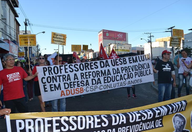 Greve Nacional da Educação e contra a Reforma da Previdência denuncia ataques de Bolsonaro e Rui Costa