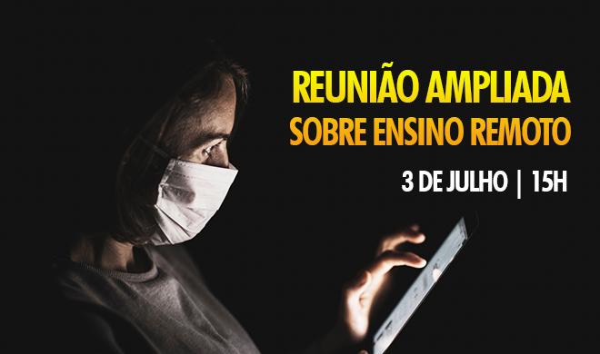 Reunião ampliada da Adusb sobre ensino remoto acontece na sexta-feira (3)