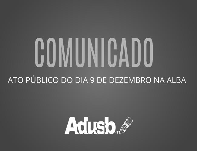 Comunicado sobre o ato público do dia 9 de dezembro