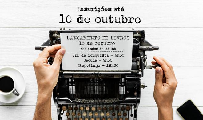 Prorrogadas inscrições para lançamento de livros até 10 de outubro