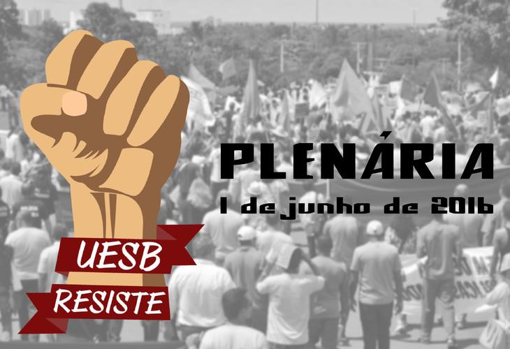 UESB RESISTE realiza plenária multicampi no dia 1 de junho