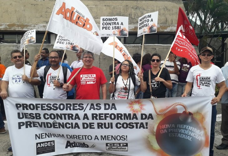 Depois da PEC 158, governo Rui Costa encaminha mais um ataque à previdência estadual
