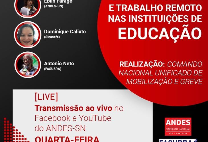 Transmissão ao vivo: Ensino à distância e trabalho remoto nas instituições de educação