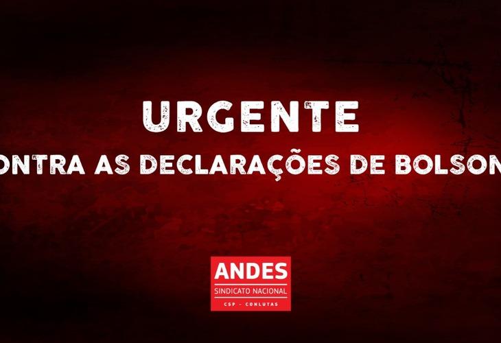 Em defesa da vida, basta Bolsonaro/Mourão