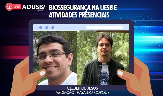 Transmissão ao vivo | Biossegurança na UESB e atividades presenciais