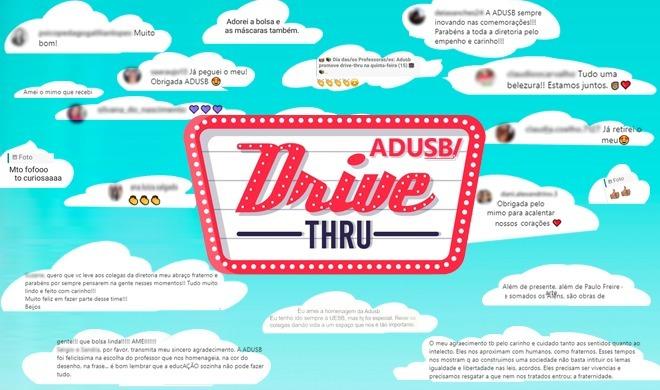 Diretoria da Adusb agradece o retorno positivo da categoria ao drive-thru