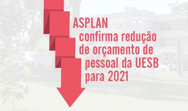 ASPLAN confirma redução de orçamento de pessoal da UESB para 2021