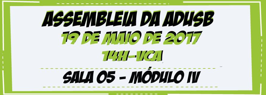 EDITAL DE CONVOCAÇÃO DE ASSEMBLEIA EXTRAORDINÁRIA- 19 DE MAIO DE 2017