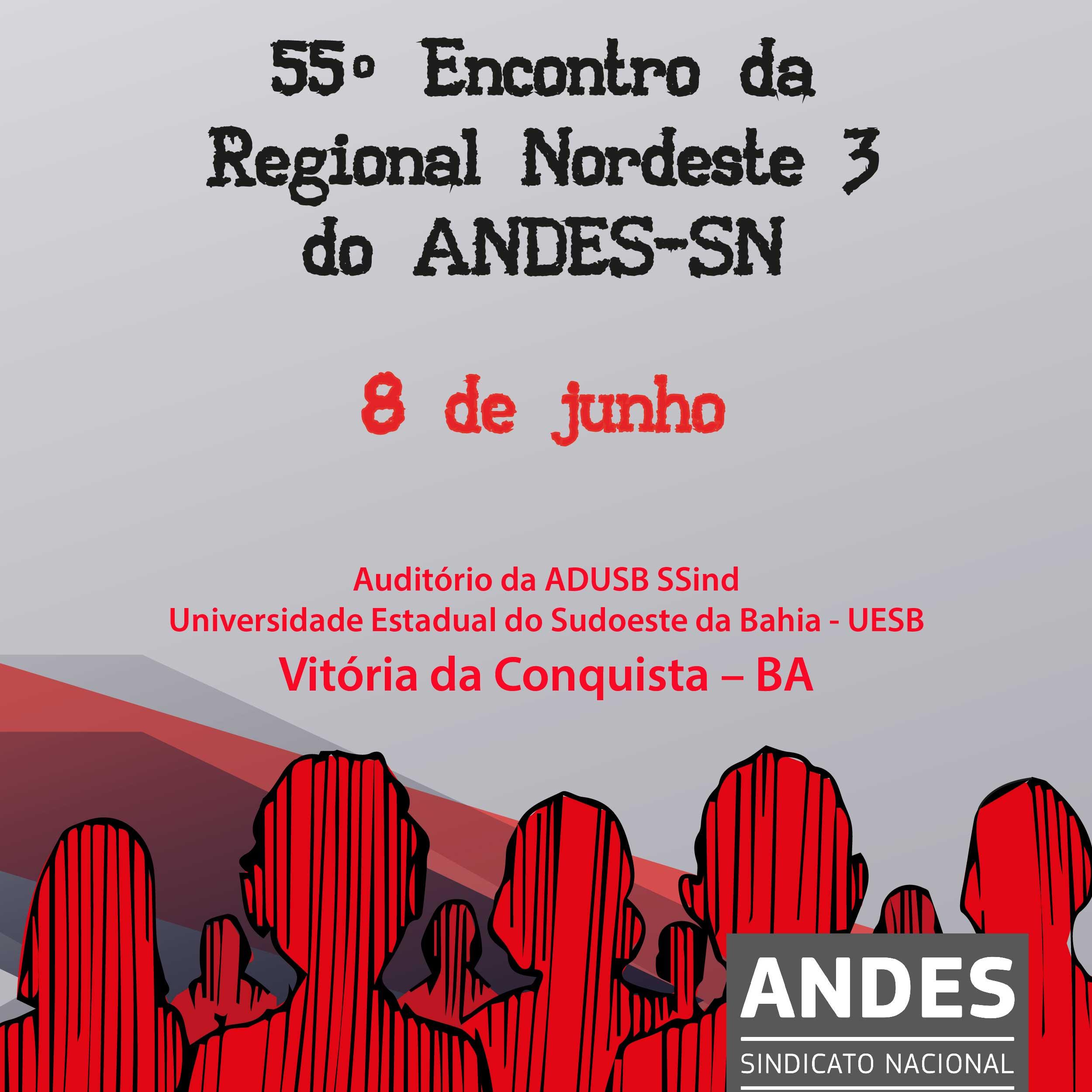 Regional Nordeste 3 do ANDES-SN realiza encontro em Vitória da Conquista (BA)