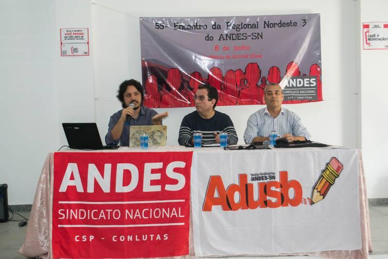Marco legal C&T e fundações abrem debates do 55º Encontro da Regional NE 3 do Andes-SN
