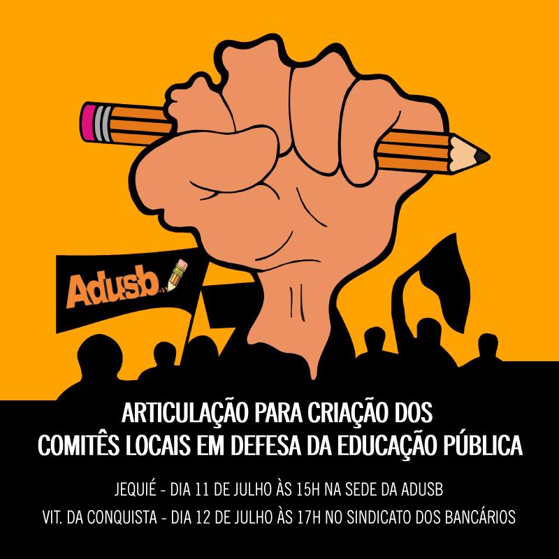 Adusb convida entidades a construírem Comitês Locais em Defesa da Educação Pública