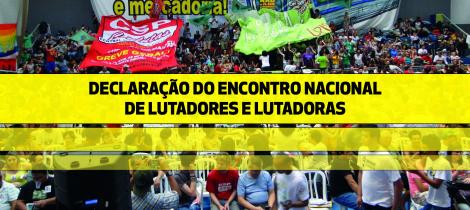 Encontro Nacional de Lutadores e Lutadoras aprova resolução política