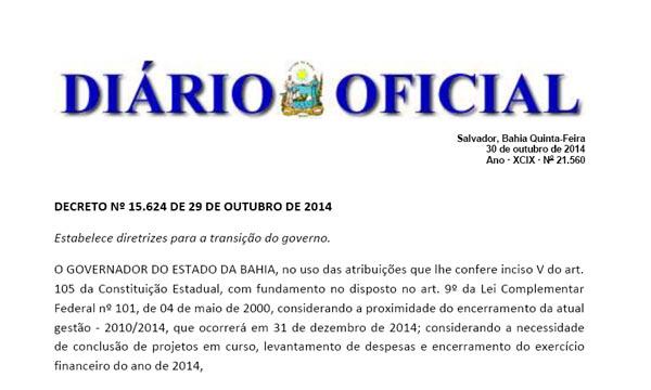 Governo publica decreto de contingenciamento