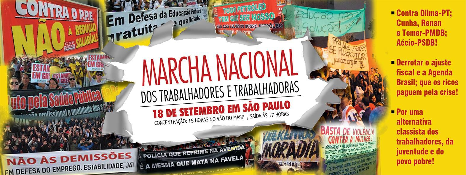 Reunião para Marcha Nacional dos Trabalhadores e Trabalhadoras acontece nesta terça-feira (15)