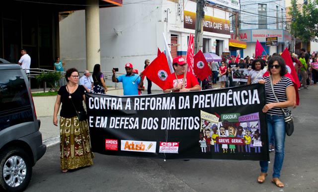 Mobilização conquistense contra a Reforma da Previdência