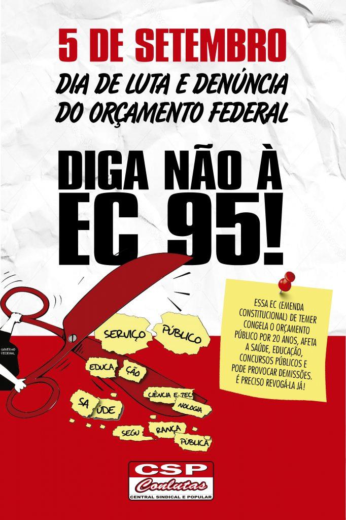 Neste 5 de setembro, servidores públicos realizam mobilização e denunciam o orçamento público federal