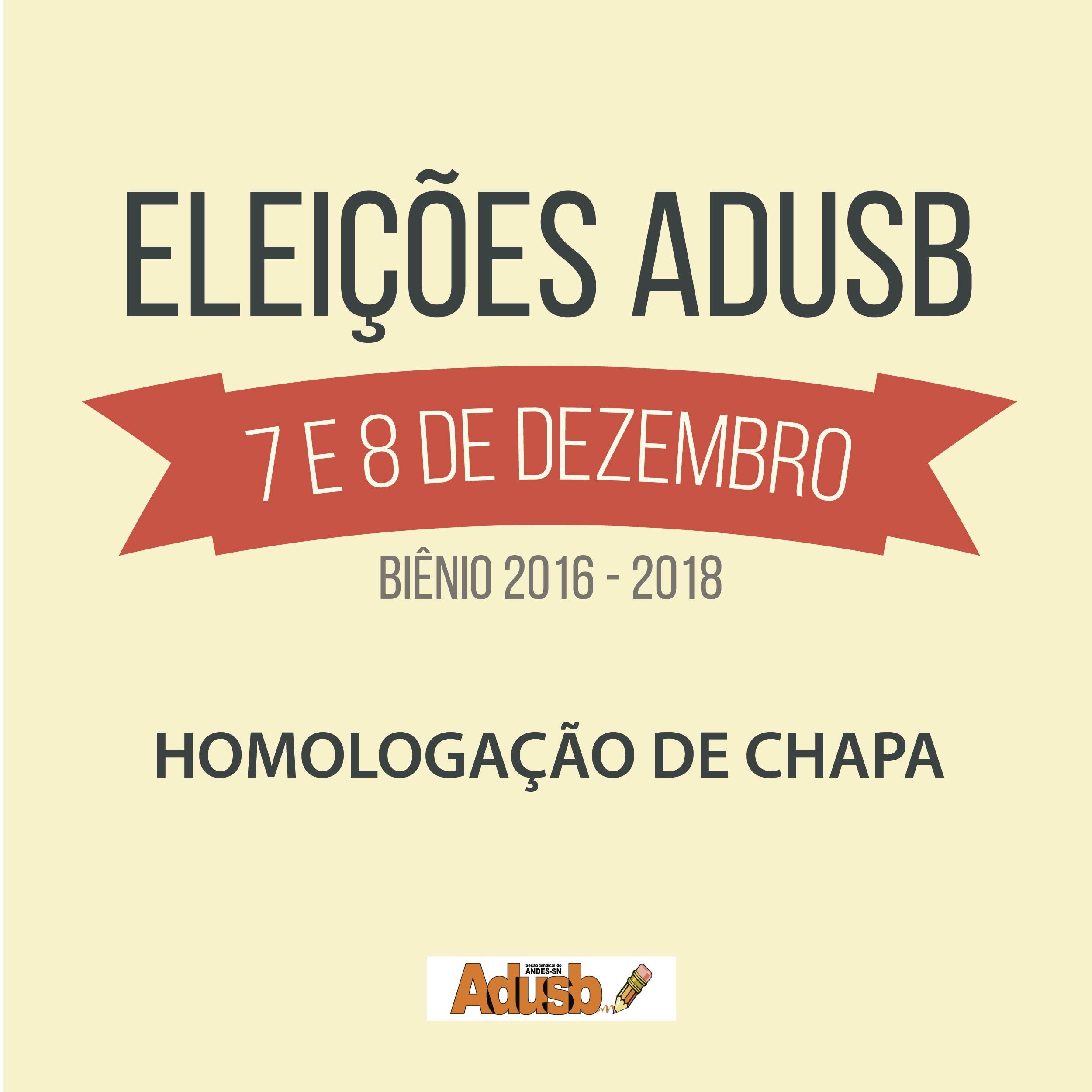 Eleições da Adusb: Comissão homologa chapa