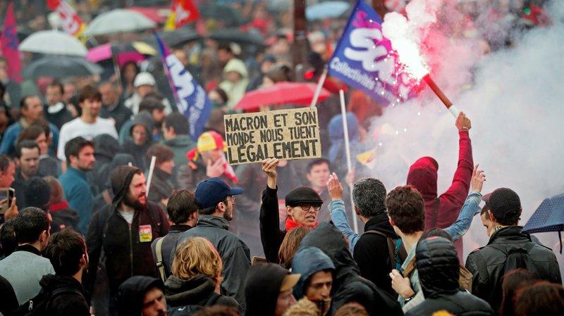 Contra Reforma Trabalhista, franceses retomam as ruas em dia de greves e protestos