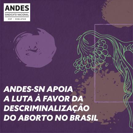 ANDES-SN apoia a luta à favor da descriminalização do aborto no Brasil