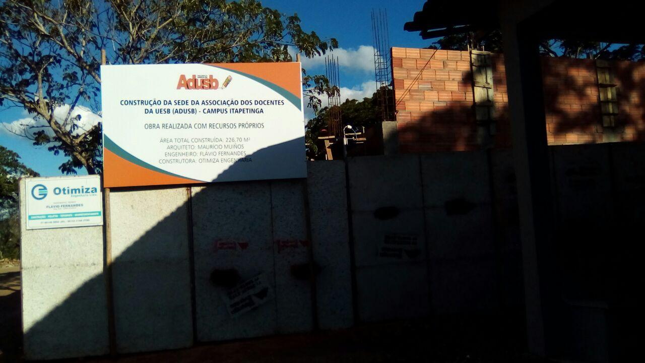 Construção das sedes da Adusb em Vitória da Conquista e Itapetinga estão em curso