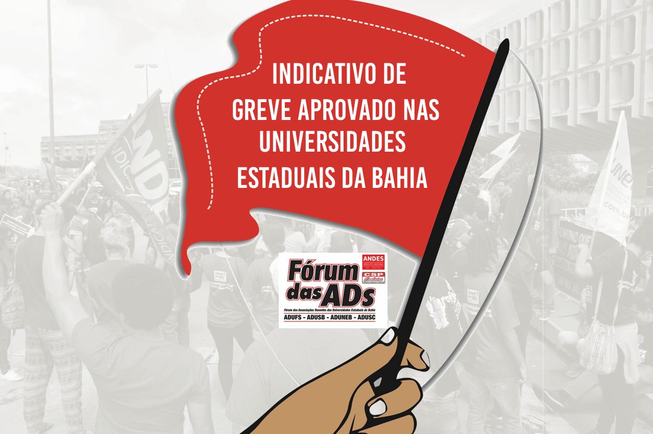 Em unidade Universidades Estaduais da Bahia aprovam indicativo de greve