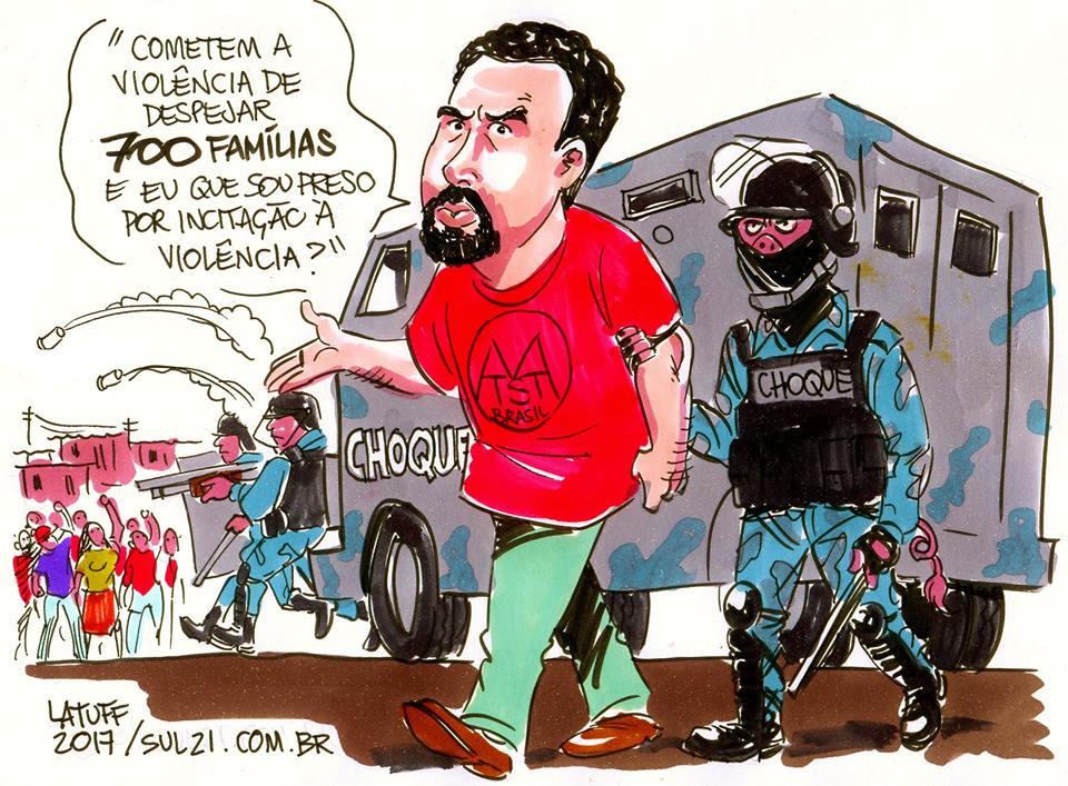 Guilherme Boulos, liderança do MTST, é preso em ação de reintegração de posse em São Paulo