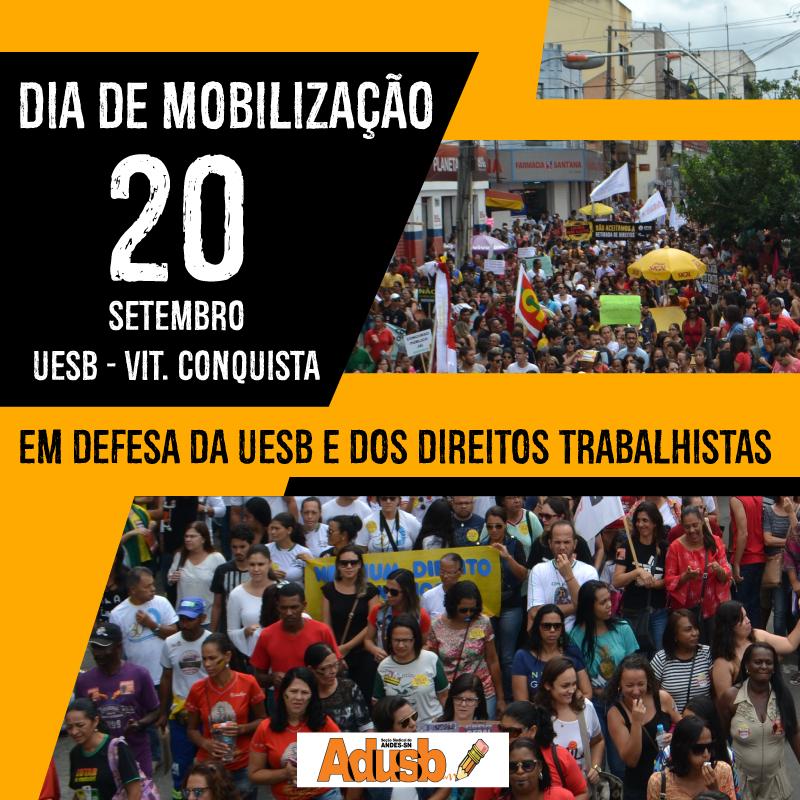 Adusb promove Dia de Mobilização na quarta-feira (20)