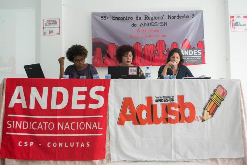 55º Encontro da Regional do Andes debate participação das mulheres nas direções sindicais