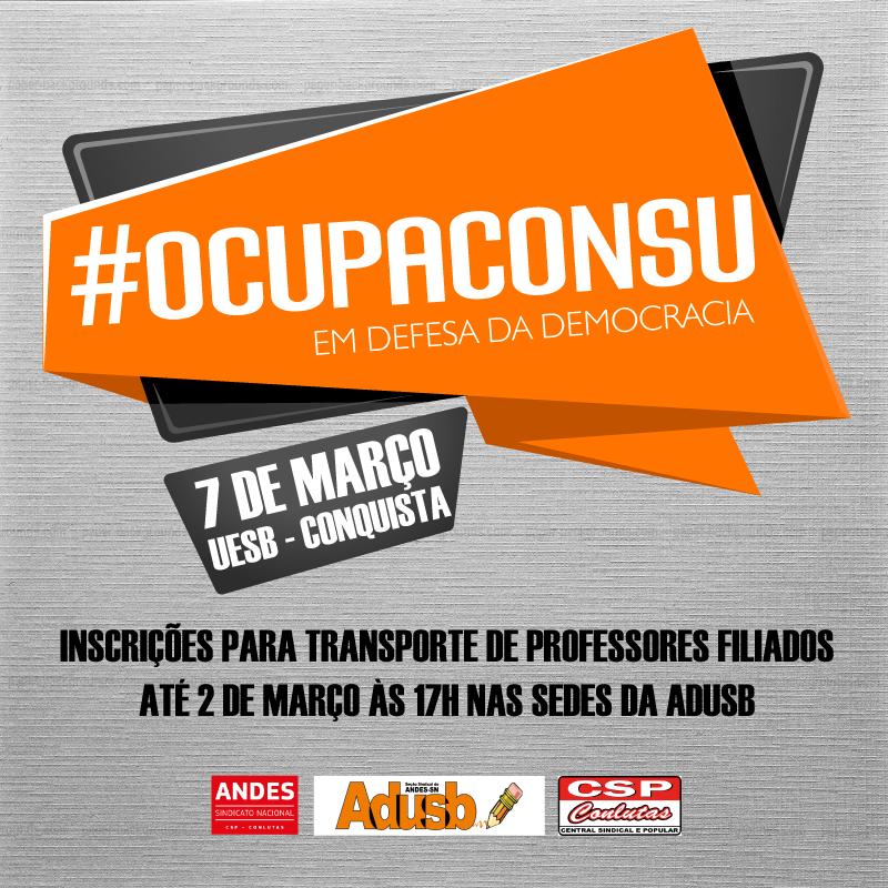 Participe do #OcupaConsu no dia 7 de março