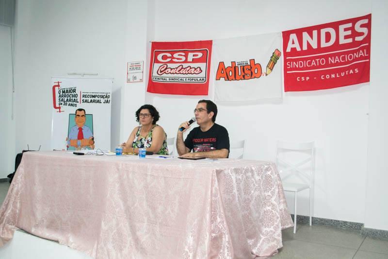 A crise política no Brasil foi discutida no Ciclo de Debates promovido pela Adusb