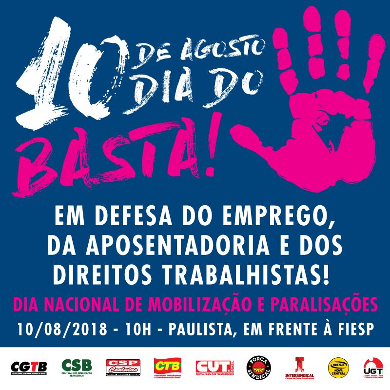 """Assembleia da Adusb discutirá participação no """"Dia do Basta"""""""