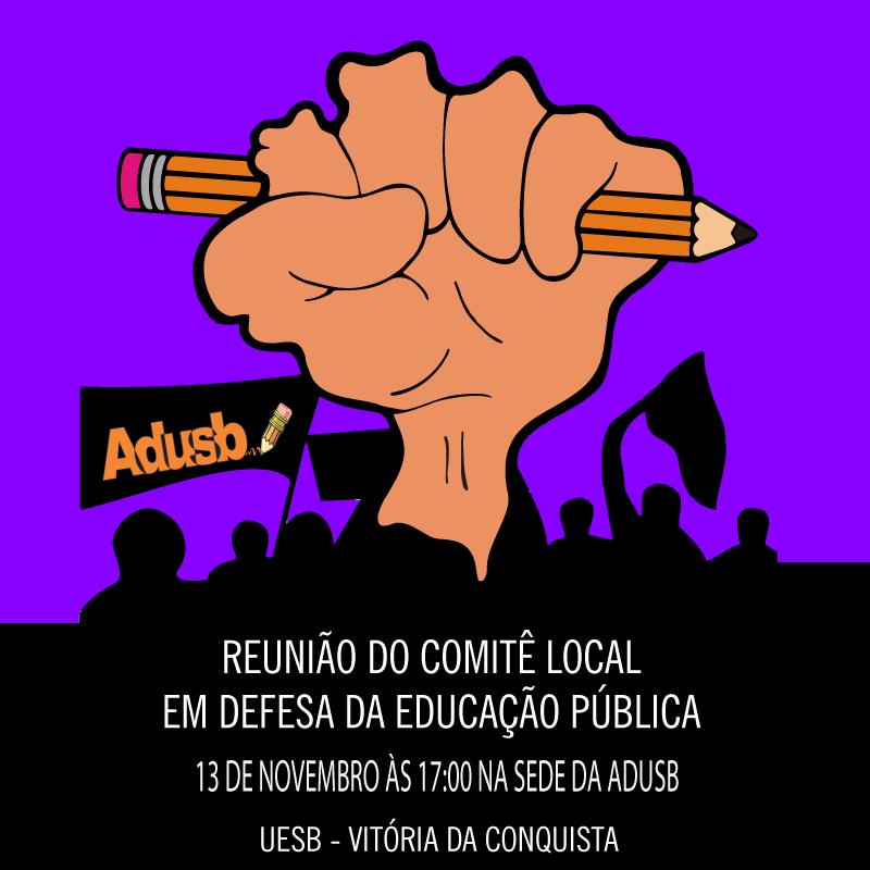 Reunião do Comitê Local em defesa da educação pública acontecerá na terça-feira (13)