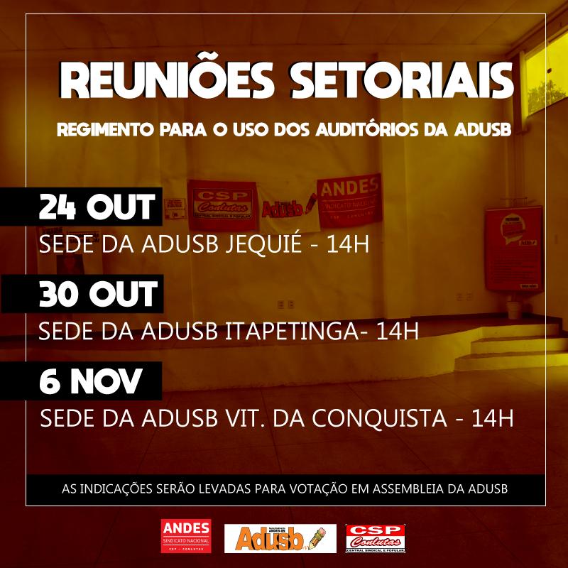 Regimento de uso dos auditórios da Adusb será discutido na terça-feira em Conquista