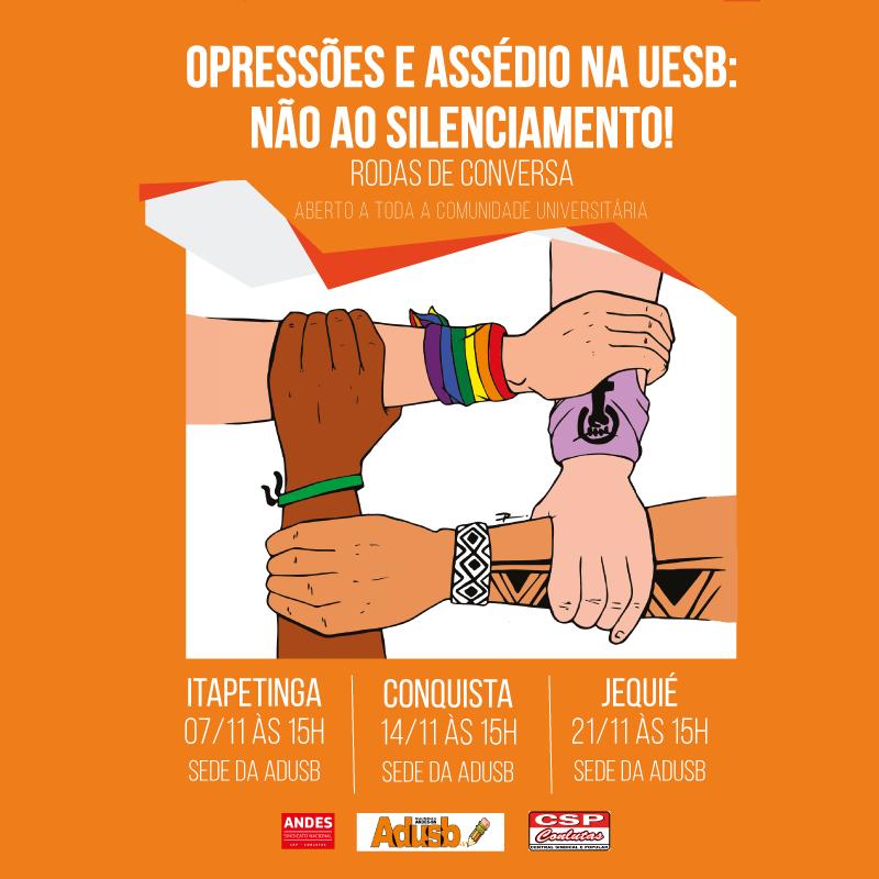 Rodas de conversa contra opressões e assédio na Uesb acontecerão em novembro