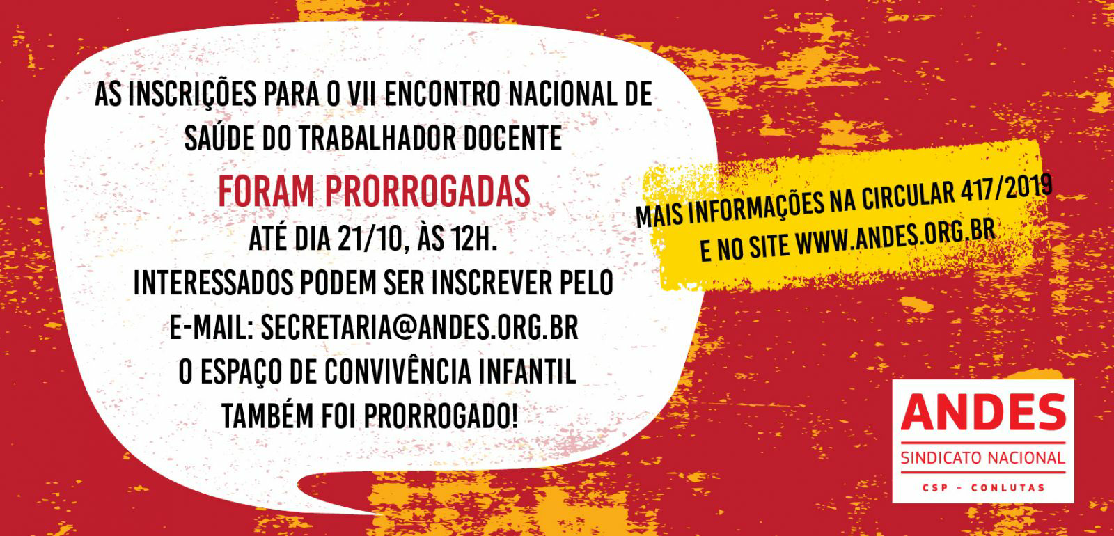 ANDES-SN realiza VII Encontro Nacional de Saúde do Trabalhador Docente