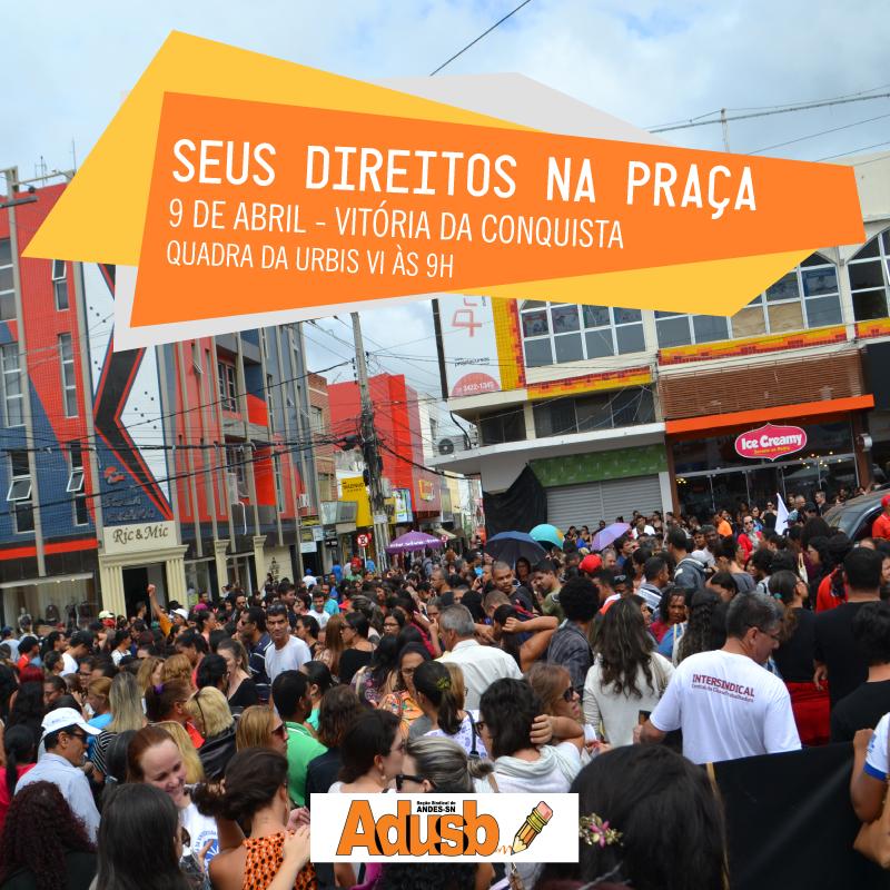 URBIS VI recebe atividade sobre retirada de direitos trabalhistas no domingo (9)