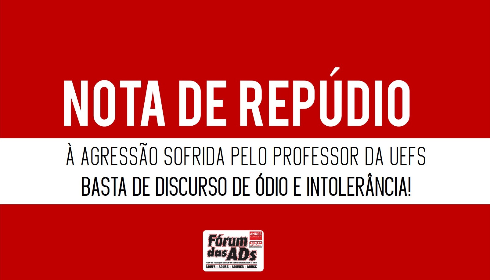 Nota de Repúdio do Fórum das ADs