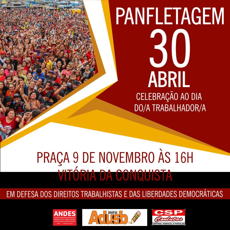 Fórum Sindical e Popular prepara panfletagem para o dia 30 de abril