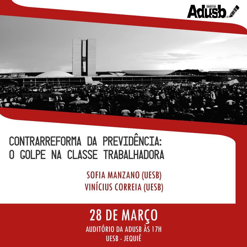 Palestra sobre reforma da previdência acontece na terça-feira (28) no campus de Jequié