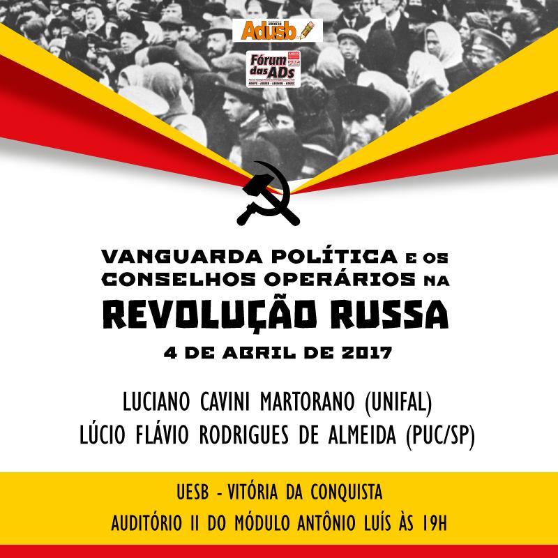 Adusb promove palestra sobre centenário da Revolução Russa na terça-feira (4)