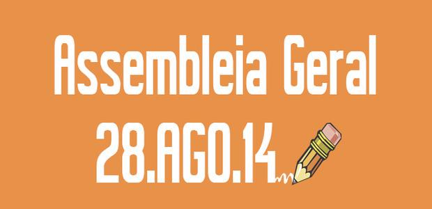 A Diretoria da Adusb – Seção Sindical do Andes – SN, no uso de suas atribuições, convoca ASSEMBLEIA GERAL EXTRAORDINÁRIA, a realizar-se no dia 28 de agosto de 2014 (quinta-feira), com primeira convocatória às 14:00 e segunda convocatória às 14:30, no audi