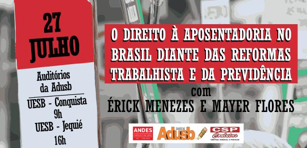 Os eventos contarão com a participação dos advogados trabalhistas Érick Menezes e Mayer Flores.
